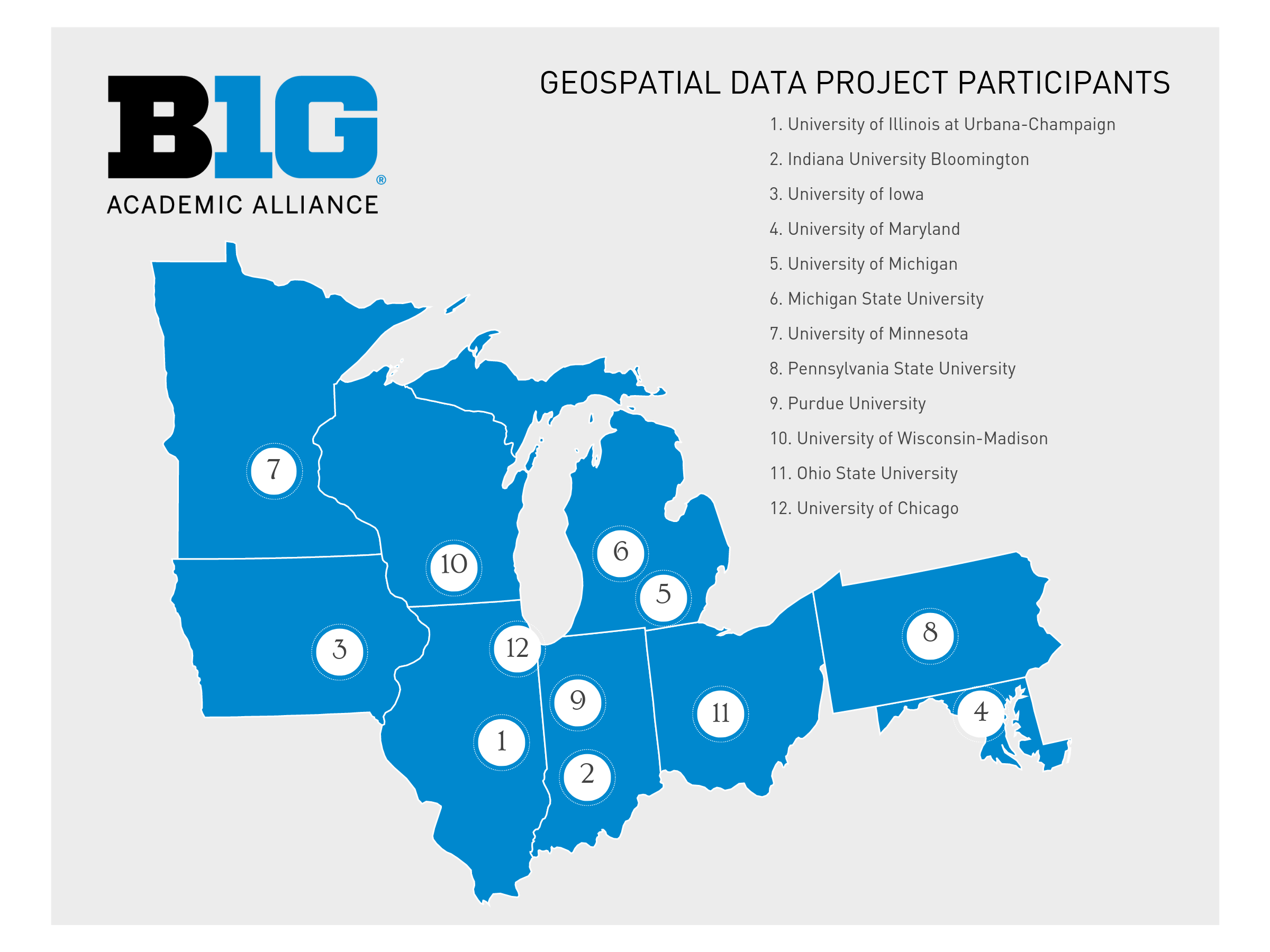 Michigan And Indiana Map.Big Ten Academic Alliance Geoportal